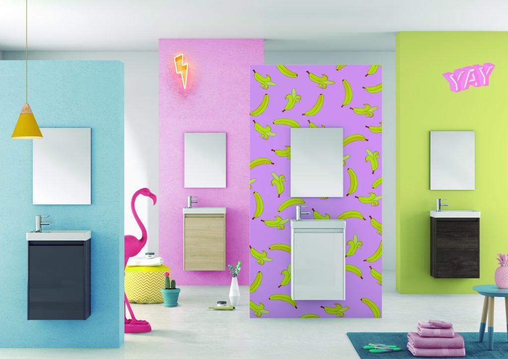 Decoración de baños en color Fontanería Florez